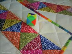 placemats (Carla Cordeiro) Tags: origami placemat arcoíris patchwork borda técnica tablerunner cantomitrado yankeepuzzle