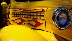 IMGP7001a (maberto) Tags: california yellow pentax flames hotrod custom carshow grassvalley bradmaberto