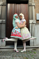 Daisy and Sofie (House Of Secrets Incorporated) Tags: belgium belgië lolita sofie daisy antwerp egl antwerpen bodyline jfashion sweetlolita angelicpretty milkyplanet lolitea jfashionmeet