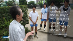 Tomiko Matsumoto says young people should realise the misery of war (ABC News) Tags: hiroshima mamaasia tomikomatsumoto