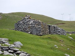 two of the fishing lodges each would have held a boat's crew (nz_willowherb) Tags: history see scotland tour visit activity shetland circularwalk fishingstation stonebuildings northmavine to fethaland go farhalf sixaren
