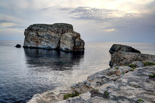 Fungus Rock, Rock formation in Gozo, Malta