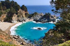 McWay Waterfall (++sepp++) Tags: landschaft landscape wasserfall waterfall california kalifornien usa highway1 pazifik pacific mcwaywaterfall mcway sonnig sunny küste coast water beach ocean sea