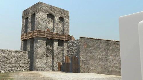 ricostruzione virtuale castello dicontignano 04