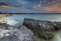 Akumal, Mexico (angie_1964) Tags: akumal beach sunset sunrise rocks sand nature seascape landscape ocean trees nikond800e