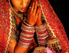 Indian Bride (atitsince82) Tags: life wedding red portrait flower color love thread closeup happy bride holding hands colorful dress indian union praying ceremony marriage husband rope clothes celebration wife bond string holdinghands bridegroom saree bangles kurta joining ilobsterit