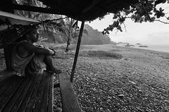 Ulan sa Habag (J Labrador) Tags: light summer portrait blackandwhite bw beach rain photography nikon surf philippines 71 hut shade punta wait lanuza 163 146 surigao surigaodelsur d7000 habag