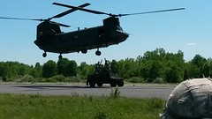 20140607-Z-Clark-013 (New York National Guard) Tags: 3rdbattalion det1 2ndbattalion senecaarmydepot nysoldiersofdeltacompany 108thinfantryfromithaca hadtheuniqueopportunitytotrainwithtwoch47chinookhelicoptersandtheircrewsfrombravocompany 126thaviationoutofrochesterthetrainingtookplaceatsenecaarmydepotlocatedintheheartofthefingerlakesbetweensenecaandcayugalakesnewlytrainedpathfinderandairassaultsoldierstrainedthecompanyonhowtoslingloadthecodup theflightcrewsverifiedtheloadsandgaverehearsalsfortheloadingandunloadingtheaircrafteachofthetrainedhookupcrewsrotatedthroughhookingtheslingloadsupandthechinooksflewashortpatternwiththe5 000lbsand12 000lbshumveeseachofthefourassaultplatoonsincodwereflownaroundcanandaiguaandkeukalakeswhileaboardthehelicoptercaptclarkwasabletopromotespcjoshuameriwethertosergeant