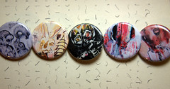 Button Series #2 (Rebel He(art)) Tags: abstract art oregon portland surrealism painted objects expressionist devil creatures find opticalillusion consciousness davey cadaver indescribable phtography productphotography hauntingly hellingphotography rawprimitive