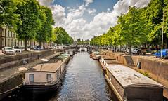 Groningen Spilsluizen (ruerdl) Tags: city trees sky urban water clouds boot boat canal bomen nikon f14 24mm groningen nikkor gracht d600 woonboot 24mmf14 spilsluizen