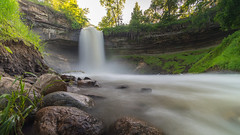 Minnehaha Falls (Ray Ng Photography) Tags: park trip travel summer sky cloud color water minnesota america waterfall long angle minolta sony awesome united north wide perspective minneapolis fast backpack shutter konica states ultra 1735 a99