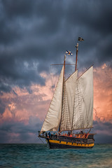 Tall Ship On Owen Sound (murf50) Tags: lake ontario water clouds bay boat georgianbay sails greatlakes pirate tallship tallships owensound pirateflag otherkeywords
