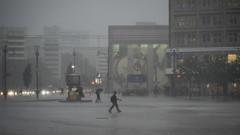 Rain over Alexanderplatz (kohlmann.sascha) Tags: street berlin rain weather deutschland place streetphotography alexanderplatz mitte regen wetter ort thema berlinmitte peopleintherain streetfotografie strasenfotografie menschenimregen