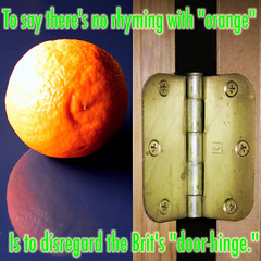 (Im)Possible Rhyme (fillzees) Tags: door hinge stilllife food orange color macro reflection fruit circle screw typography words diptych poetry poem text round fx brit tabletop rhyme spherical impossible verse doorhinge poetryandpicturesinternational
