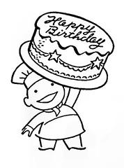 baker birthday cake (Al Q) Tags: birthday art cake happy baker clip 1940s