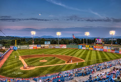 Moonrise Over The Red Sox - Salem Virginia (Terry Aldhizer) Tags: red summer moon evening virginia baseball sox terry salem hdr aldhizer terryaldhizercom