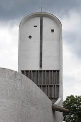 IMG_0960 (trevor.patt) Tags: france architecture concrete chapel notredame sacred lecorbusier fr ronchamp gunite