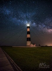 Bodie and the Milky Way (APGougePhotography) Tags: light lighthouse detail photoshop stars star nikon clarity nagshead adobe bodie obx topaz lightroom milkyway d600 adobelightroom denoise topazlabs nikond600 topazdetail topazclarity phototshopcc