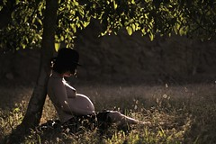 A loving moment to the unborn child (Sus Blanco) Tags: sunset mila pregnant conceptual