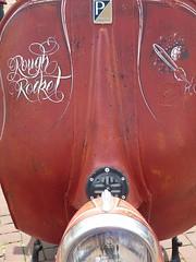 urban, custom Vespa, Rough Rocket (QQ Vespa) Tags: old red italy rot classic bike vintage vespa alt seat scooter days motorbike german 200 roller oldtimer gt custom gs leder scootering blech piaggio costum antik 2014 sattel px herten ledersattel beinschild gernanvespadays roughrocket