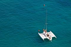 Cat at Cala (andyfpp) Tags: blue summer water canon boats yachts menorca audax 2014 balearicislands 500d calagaldana canon500d 24105mm 24105mmf4lis hotelaudax aperture3 freshpeoplehotels