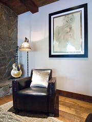 (deanmackayphoto) Tags: lamp leather stone marilyn print chair floor guitar antique livingroom pillow renovation decor interiordesign hardwood