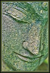 Verdigris (TheMightyEye) Tags: face statue asian asia buddha buddhist religion buddhism gardenstatuary themightyeye axeburylodge