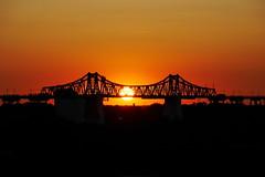 P1700541 (Lumixfan68) Tags: sunset sonnenuntergang rendsburg brücken eisenbahnhochbrücke rendsburger