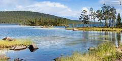 Lake Inari waterside (dieLeuchtturms) Tags: panorama horizontal suomi finland europa europe finnland inari lappland lapland 2x1 lappi querformat inarijärvi northernsami