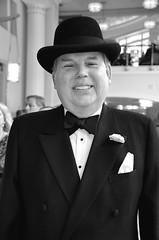 At The Opera (Texaselephant) Tags: bw man hat nikon opera theater tuxedo fancy tamron dressy d5100
