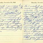Lloyd Fuller Diary, December 29-30, 1942 thumbnail