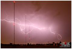 8-21-14 (No Stone Unturned Photography) Tags: arizona storm phoenix night radio lights am desert towers bolt strike lightning rf 910 kgme