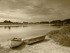 The River Eden at Rockcliffe near Carlisle (penlea1954) Tags: uk england bw white black river boats scenic cumbria stunning eden carlisle the rockcliffe