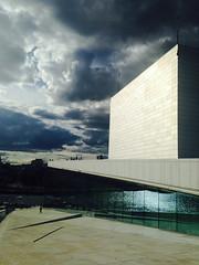 Oslo Opera House (KirstinaReitan) Tags: summer sky oslo norway architecture clouds norge arkitektur operaen vær oslooperahouse dennorskeopera