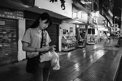 Snapshot_0445 (Huang Qing) Tags: china street urban blackandwhite bw monochrome night dark iso3200 candid 28mm streetphotography cellphone gr ricoh