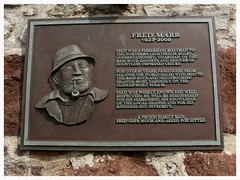 Fred Marr of North Berwick. (Paris-Roubaix) Tags: plaque scotland memorial edinburgh north east fred berwick boatman lothian marr