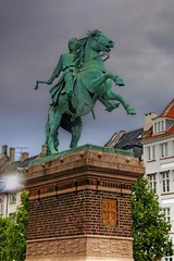 Absalon (Tony Shertila) Tags: sky sculpture weather statue bronze clouds copenhagen denmark europe day cloudy palace axel kopenhagen hdr absalon littlemermaid blackdiamond