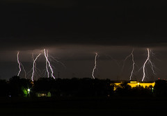 Lightning (Explored) (Mike Matney Photography) Tags: sky storm weather clouds canon illinois midwest september 94 lightning edwardsville 2014 eos7d
