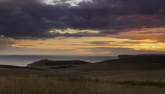 Belle Tout from Beachy Head Sunset (JamboEastbourne) Tags: sunset england lighthouse sussex head east eastbourne belle beachy tout