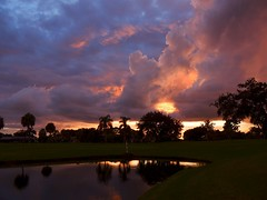 After the storm. (Jim Mullhaupt) Tags: pink blue sunset red wallpaper sky orange storm color tree weather silhouette yellow night clouds landscape evening nikon flickr florida dusk palm september coolpix bradenton p510 mullhaupt cloudsstormssunsetssunrises jimmullhaupt