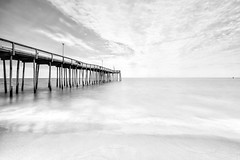 high key ocean city (dK.i photography (viewbug.com)) Tags: ocean longexposure blackandwhite beach pier maryland highkey oceancity midday fishingpier hss neutraldensity sliderssunday