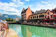 Annecy (Emad Darwish) Tags: voyage mountain annecy nature river landscape day cloudy lac traveling