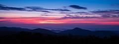 Misty Mountain Sunrise (resheasby) Tags: park morning blue red sky mountain nature fog sunrise virginia early scenery wake most national vista shenandoah