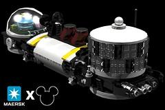 BRIX Micro Space MAERSK X Disney Cruise Lines Steamboat I (Dunechaser Refit) V1.0c (ЯIK) Tags: lego disney mickeymouse cruiseship shipping tanker microspace ldd maersk microscale