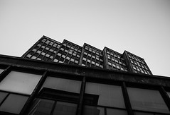 Interesting Architecture (themozzarella) Tags: windows bw black cold building monochrome architecture finland dark cool interesting helsinki nikon noir darkness steps blocks block dslr bnw blackandwhitephotography d60