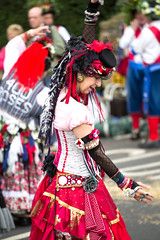 Artist (cowboy72) Tags: red woman lady dancers bright folk bellydancer dancer tribal belly morrisdancers mashamsheepfair