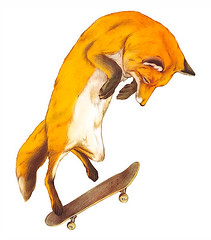 Fox doing the impossible! Illustration by Giuseppe Modica. More i... - Designspiration - Popu