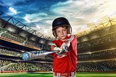 JP3 (crissgirl) Tags: baseball stadium helmet bat strike homerun