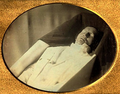 In Repose (~ Lone Wadi ~) Tags: ambrotype death coffin casket funeral wake deceased corpse postmortem unknown retro 1850s 19thcentury victorian