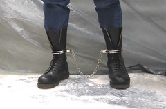 Doc Martens 14 eyes steel toe (asiancuffs) Tags: handcuffs handcuffed shackles shackled arrest arrested inmate prisoner